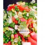 salade gourmande petit pois.